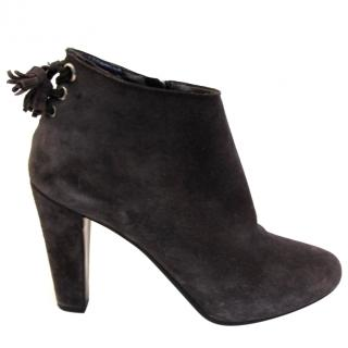 CAR SHOE grey suede ankle boots