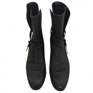 Bottega Veneta black biker Boots