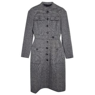 Burberry black and white wool coat