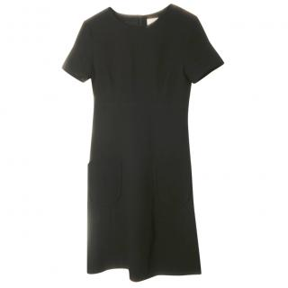 Goat black wool midi dress
