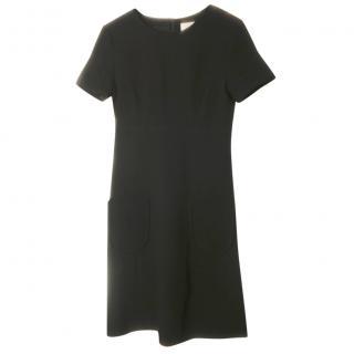 Goat black wool midi dress