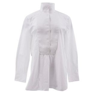 By Malene Birger White Contrast Collar Shirt