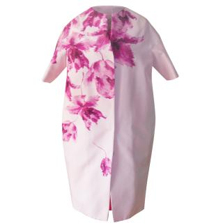 Giambattista Valli orchid print silk coat
