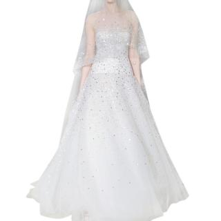 Carolina Herrera sparkly metallic wedding dress