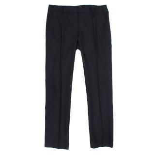 Prada Navy Checked Trousers
