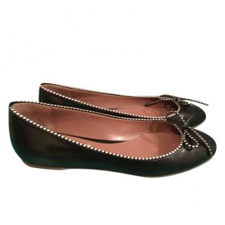 Tabitha Simmons Coco Leather ballet flats