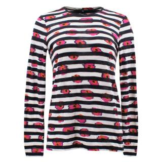 Proenza Schouler Striped and Floral Printed Top