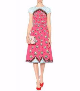 Mary Katrantzou Osmond Dress Kings Fuchsia