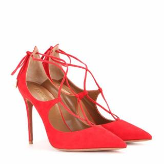 Aquazzura Christy red pumps