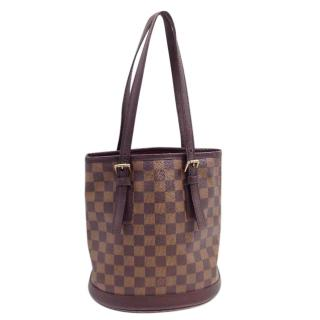 Louis Vuitton Damier Ebene Marais Bucket Shoulder Bag