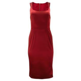 Dolce & Gabbana Satin Fitted Dress