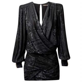 Balmain x H&M  black silk dress