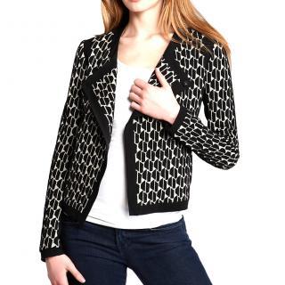 Diane Von Furstenburg  Patricia Houndstooth stretchy jacket