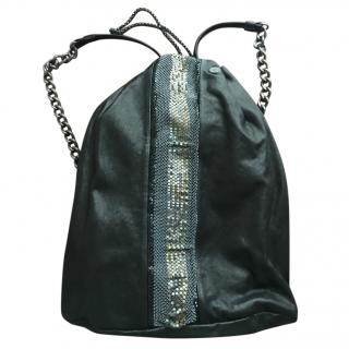 Laura B Leather backpack