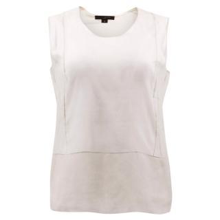 Louis Vuitton Jersey Vest with Nude Sheer Silk Top