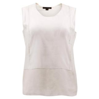 Louis Vuitton Jersey Vest with Nude Sheer Silk Top