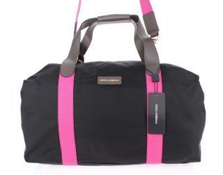 Dolce & Gabbana Black and Pink Boston Duffel Gym bag