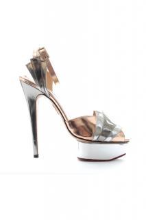 Charlotte Olympia 'Decodent' Metallic Leather Platform Sandals