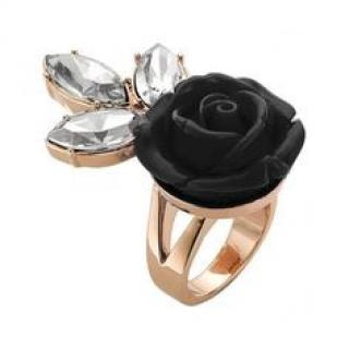 Mawi Black Rose Ring