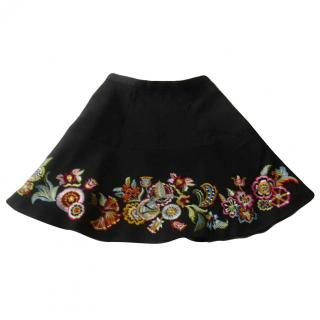 Kenzo Colourful Embroidered Skirt