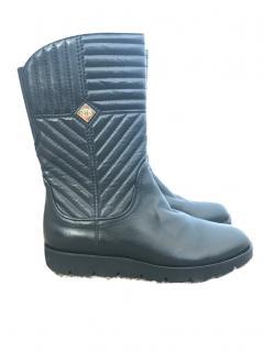 Baldinini black leather boots