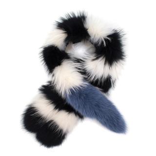 Charlotte Simone Popsicle Fur Scarf