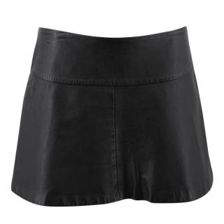 Zoe Jordan Leather Mini Skirt