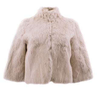 Matthew Williamson Dust Pink Rabbit Fur Bolero