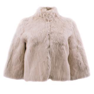 Matthew Williamson Dust Pink Rabbit Fur Bolero