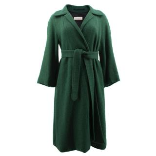 Dries Van Noten Green Belted Coat
