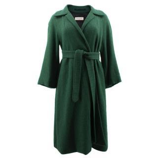 Dries Van Noten Green Belted Coat