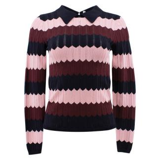 Sandro Striped Knit Jumper