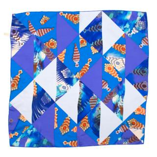 Cartier Blue Pattern Square Scarf