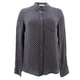 Equipment Grey Star Printed Silk Shirt