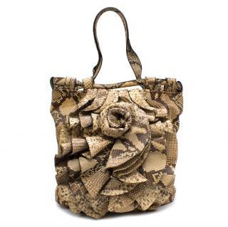 Valentino Python Petal Rose Bag