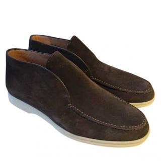 Loro Piana brown suede loafers mocassins