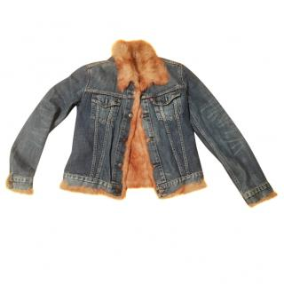 Levi's jacket with fur lining and trim