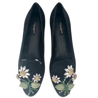 Dolce & Gabbana Daisy Crystal Flats