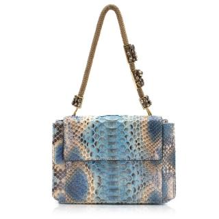 Ermanno Scervino Snake Skin Pattern Box Clutch Bag