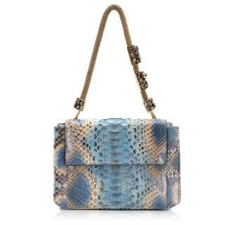 Ermanno Scervino Snake Skin Pattern Box Clutch Bag