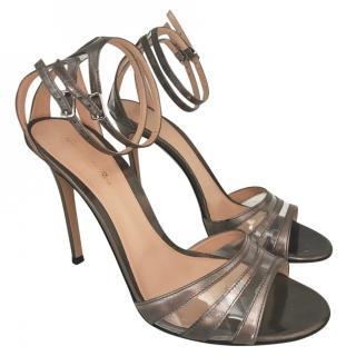 Gianvito Rossi Grey Metallic Sandals