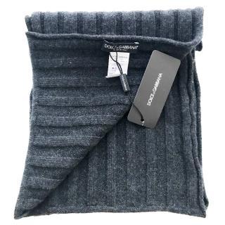 Dolce & Gabbana Dark Grey Cashmere Scarf