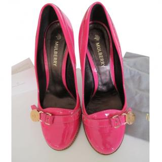 Mulberry Fuchsia Pink Patent Leather Pumps