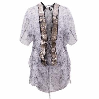 Thomas Wylde Silk Embellished Top