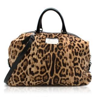 Dolce & Gabbana Miss Urbanette Leopard Large Tote Bag