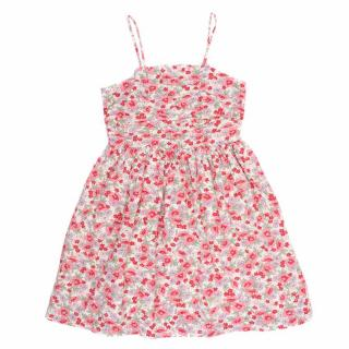Ralph Lauren Polo Girls Floral Linen & Cotton Dress