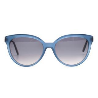 Bottega Veneta Blue D-Frame Sunglasses