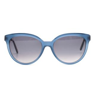 Bottega Veneta Blue D-Frame Sunglasses