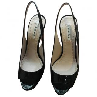 Miu Miu Vernice Black Heels