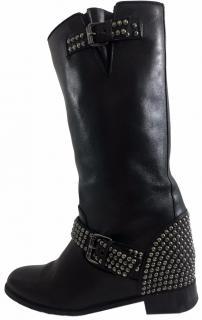 Christian Louboutin Leather Bicloubutu Studded Biker Boots
